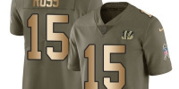 Nike Bengals #15 John Ross Olive/Gold Youth Stitched NFL Limited 2017 Salute to Service Jersey - Газета Майкопские новости