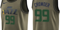 Nike Jazz #99 Jae Crowder Green Salute to Service Youth NBA Swingman Jersey - Газета Майкопские новости